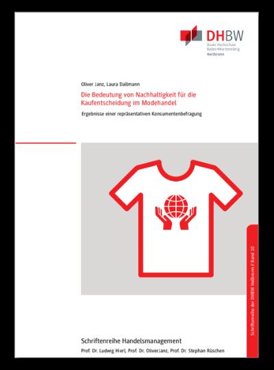 Titelbild Monographie Band 10 Die Bedeutung von Nachhaltigkeit für die Kaufentscheidung im Modehandel